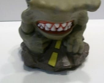 1995 Street Sharks  Hammerhead Shark  Coming Out Of Manhole Cover On Road Squeeze Toy Does Not Make Squeezing Noise