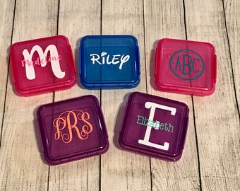 Personalized Sandwich Container - Back to School Lunch Box - Crayons - Monogrammed Sandwich Box - Monogrammed School Supplies - School Lunch