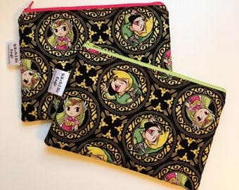 Zelda Zipper Pouch   Pencil Pouch   Notion Bag   Crochet Hook Bag