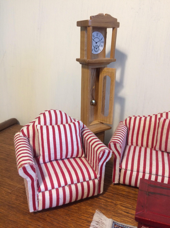 Doll House Lounge Furniture Living Room Sofa Chairs Rug