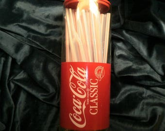 COCACOLA STRAW DISPENSER New No Box shipped by Priority Mail with tracking