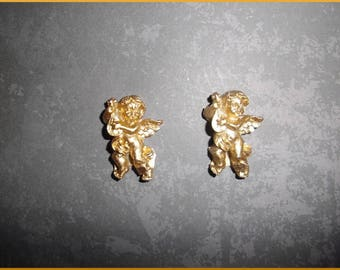 set of 2 Angels gold polyresin for Christmas decoration