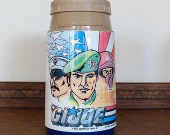 Vintage 1980's Aladdin GI Joe Thermos // Water Bottle