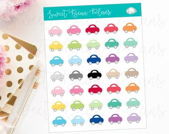 Tiny Car Planner Stickers