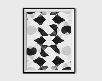 black and white print, abstract art print, minimal art, wall art, modern art, digital print, kivapaca, printable art, wall art, home decor
