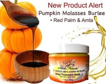 Pumpkin Molasses Burlee Deep Treatment Mask, Organic, Vegan, Natural, 12 oz jar