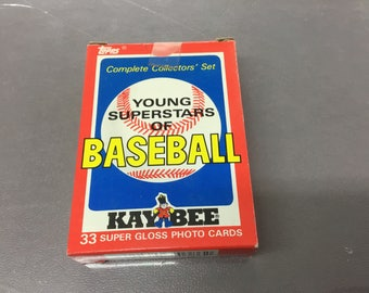 1986 Topps complete collectors set young superstars of baseball