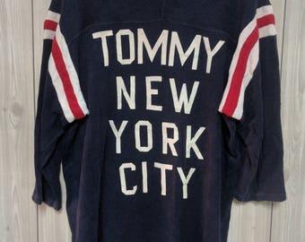 vintage tommy hilfiger men 3/4 sleeves t-shirt size M