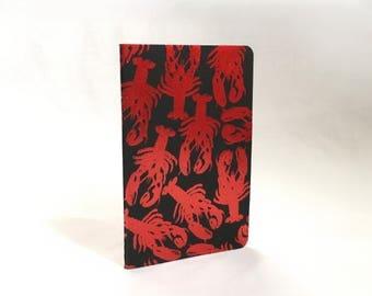 SALE**** Small Foil Lobster Moleskine Lined Notebook