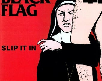 Back to School Sale: BLACK FLAG - Slip It In Art Print Poster 12 x 12