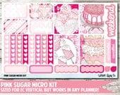 Pink Sugar Micro Kit Planner Stickers