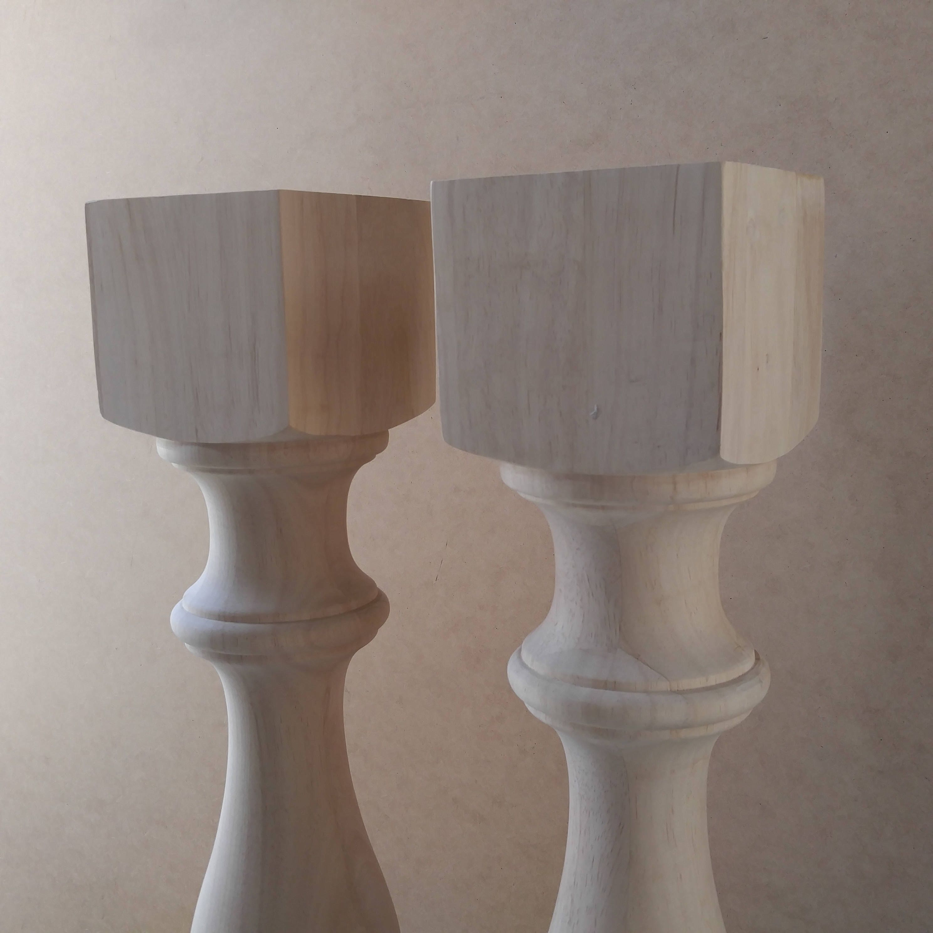 Pair Unfinished Monastery Console Table Legs Set Of 2