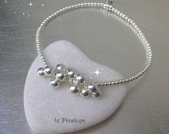 Mini bracelet and 12 beads 4mm silver 925th