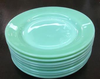"""Jadeite Fire King Restaurant Ware 8"""" inch Lunch Plate"""