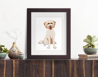 Custom Dog Portrait // 8 x 10 Art Print - unframed - clean, iconic design - gifts for dog lovers - housewarming gift - dog art for home