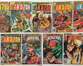 KA-ZAR Lord of the Hidden Jungle Bronze Age Lot of 9 Marvel Comic Books