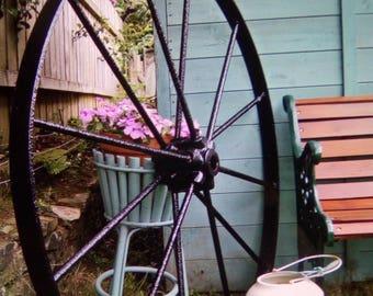Old 1940s wagon wheel