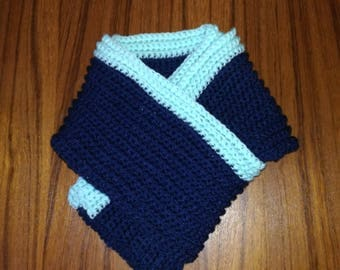 Scarf mixed Navy Blue and Mint