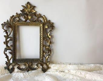 Vintage Gold Frame, Antique Gold Frame, Gold Frame, Vintage Gold, Vintage Frame, Antique Gold Home Decor, Antique Gold, Shabby Chic Frame