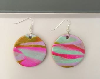 """SALE STOCK! Handmade statement dangle earrings // gifts for her // """"Candy"""""""