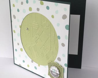 Green tree greeting card - Christmas - gift