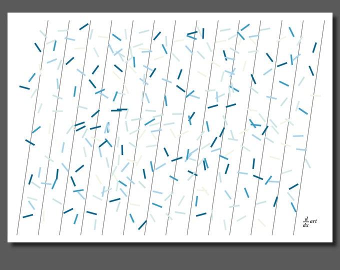 Pi sticks 07 [mathematical abstract art print, unframed] A4/A3 sizes