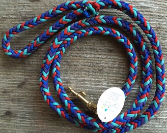 Handmade Dog Leash ~ Paracord ~ 5' Blue/Red/Purple ~ Paracord Dog leashes ~ Dog Lover ~ Pet Supplies ~ Dog Lover Gifts ~ Gift for Dog