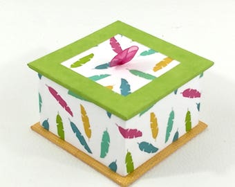 Jewelry box - green and multicolor
