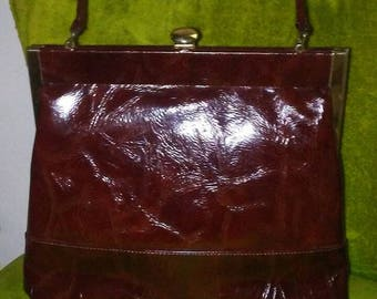 1960s Oxblood Life Stride Top Handle Bag