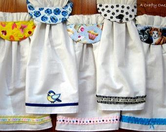 Kitchen Towels, Cat Kitchen Towel, Dog Kitchen Towel, Bluebird Hanging Kitchen  Towels,