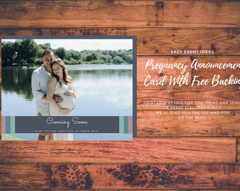 Personalized and Customizable Pregnancy Announcement