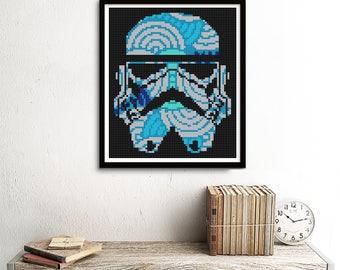 Storm Trooper Cross Stitch Star Wars Pattern