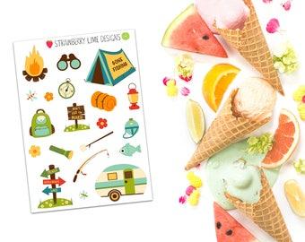 Mini Camping Decorative Stickers