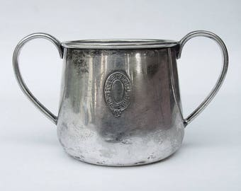 Rare Vintage POLLEY'S HOTEL Pretoria South Africa Silverplate Sugar Bowl