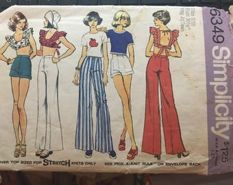 Vintage 70s Simplicity 6349 Separates Pattern-Size 9/10 (30 1/2-24-33 1/2)