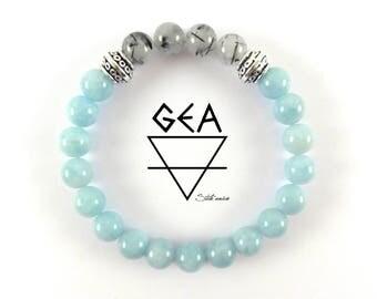 Women Aquamarine bracelet-Tourmaline Quartz Bracelet