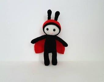 Ladybug Toy, Crochet Ladybug, Soft Toy, Handmade Crochet Ladybird, Red and Black Ladybug, Amigurumi Ladybug, Baby Shower Gift- MADE TO ORDER