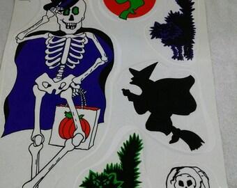 Halloween Skeleton Theme Window Decor