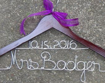 Set of 12 Wedding Dress Hanger, Wedding Hanger Custom Wedding Hanger, Bridal Hanger, Personalized Wedding Hanger, Personalized Bridal Hanger