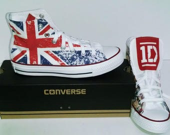 One Direction Custom shoes / converse / 1D