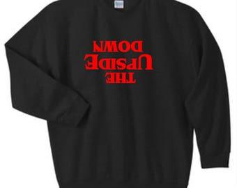 Stranger Things The Upside Down Sweatshirt, Custom Stranger Things Crewneck Sweatshirt, Sizes S-5XL, Gift for Her, Gift for Him. 18000