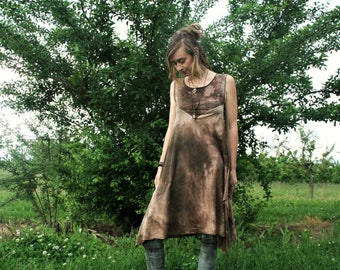 Pointy dress made of hemp Jersey