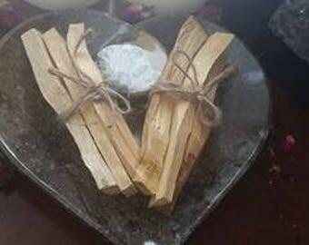 Palo Santo Holy Sticks ~ Set of 3 ~ Space Cleansing ~ Sacred Space ~ Good vibes ~ Altar ~ Meditation ~ Remove Negative Energy ~