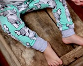 Dog Print Leggings, Organic Baby Clothes, Baby Harem Pants, Baby Harems, Baby Leggings, French Bulldogs, Toddler Harems, Toddler Leggings