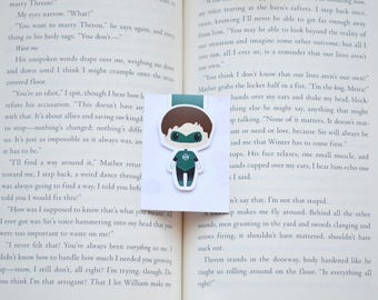 Green lantern magnetic bookmark