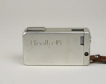 Minolta-16 Subminiature Camera, Spy Camera, Rokkor 25mm f/3.5 Lens