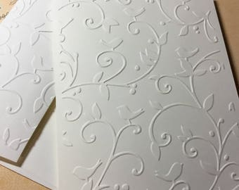 Scroll Cards~Embossed Scroll Note Cards~Embossed Scroll Cards~Scroll Gift Tags~Note Cards~Tags~Scroll~Birds~Wedding~Anniversary~Thank You