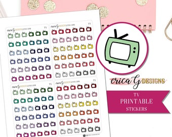 PRINTABLE ICONS: TV/Printable/Digital/Stickers