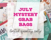 July MYSTERY GRAB BAGS | Planner Stickers and Washi Tape Samplers | Mini Stickers | Stationery Goodies | Fantastic Value!