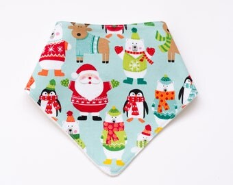 """Bandana with absorbent sponge """"Santa Claus and his friends"""""""